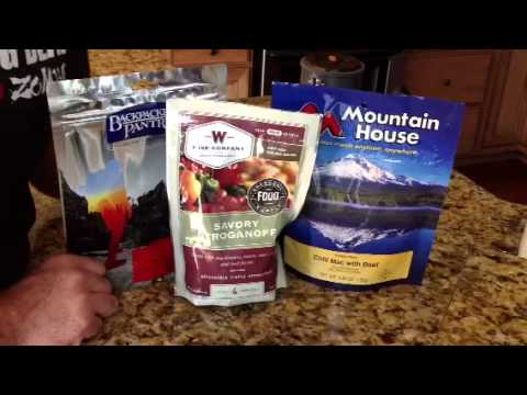 Survival Skills 101: Mountain House vs.Wise vs. Back Packers Pantry.