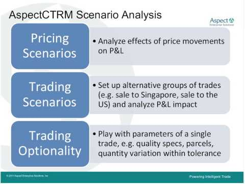 Using What If Scenario Analysis To Model & Stress Test Energy Trades 20110512