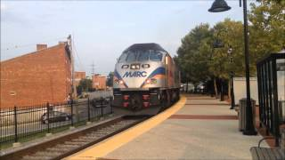 MARC train #P893 at Frederick, MD Rail station 8/8/14