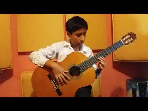 Sergio Ramírez Reyes - Cholo Berrocal Homenaje - Vals Criollo - Niño Guitarrista