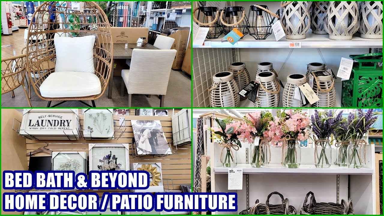 Bed Bath And Beyond Home Decor Patio Furniture Shop With Me 2021 Youtube