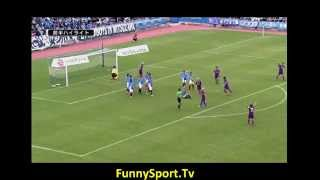Is This The Craziest Free-kick Routine Ever from Kyoto Sanga?