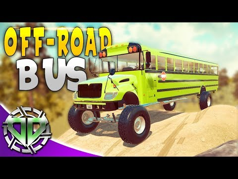 OFF-ROAD SCHOOL BUS! : Car Mechanic Simulator 2018 Gameplay : Livestream