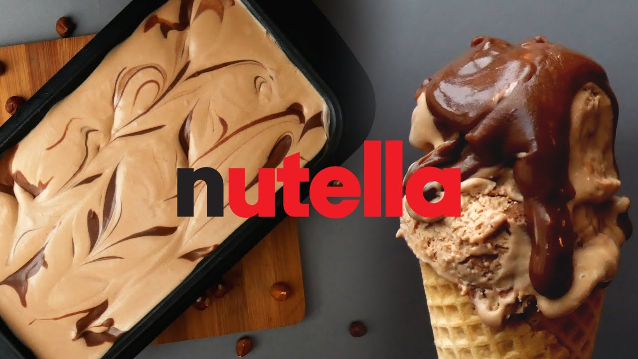 Nutella Ice Cream - 3 Ingredient - (No Churn/Machine) - Treat Factory