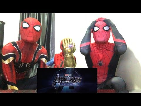 Marvel Studios' AVENGERS: ENDGAME - Official TRAILER REACTION!!! By MCU Spiderman Bros