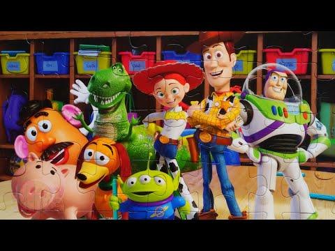 История игрушек 4 - Вуди и его друзья - Собираем пазлы Toy Story Pixar   Merry Nika