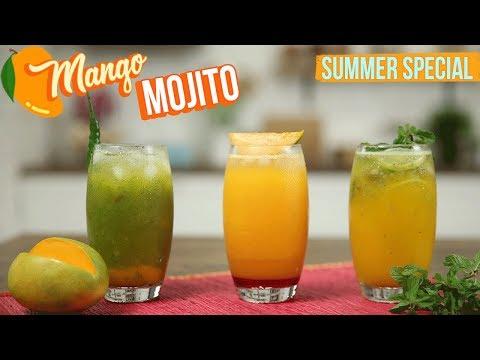 3 Varieties Of Mango Mojito Recipe | How To Make The Perfect Mojito Cocktail | Summer Cooler | Varun