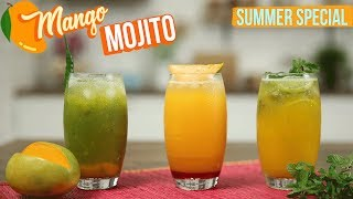 connectYoutube - 3 Varities of Mango Mojito Recipe | How to Make the Perfect Mojito Cocktail | Summer Cooler | Varun