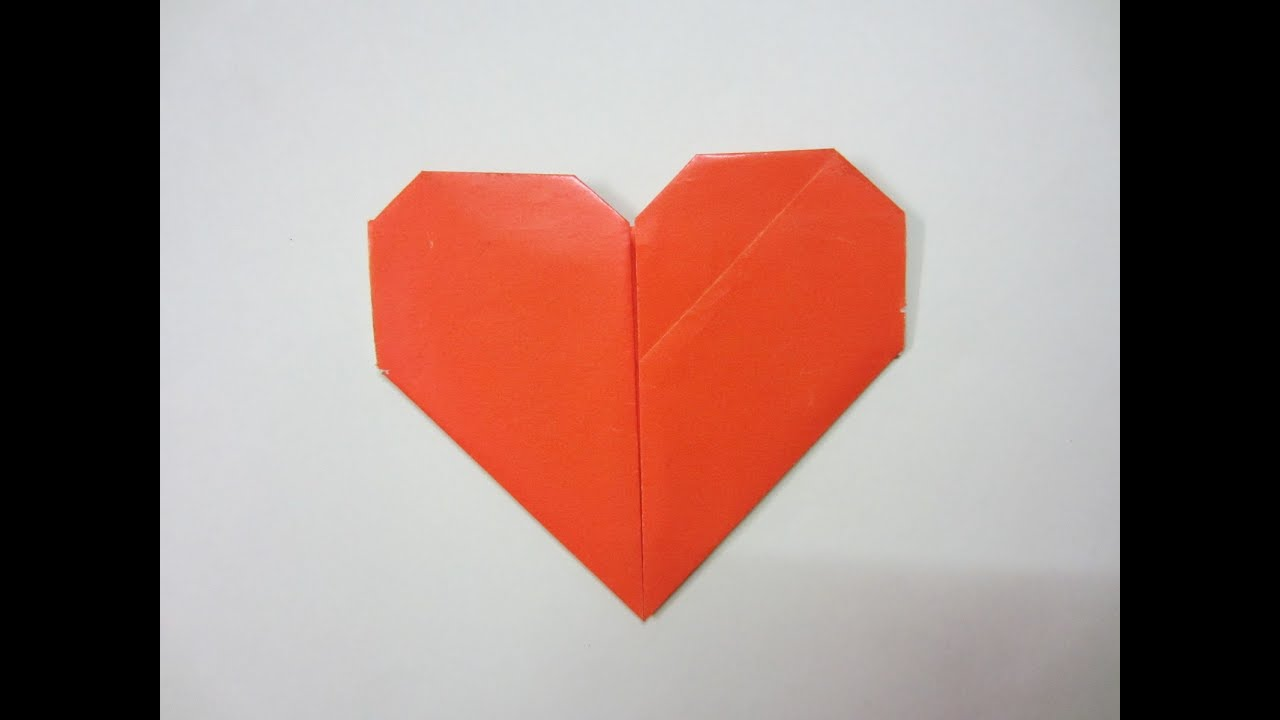 how to make a heart out of paper video