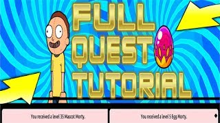 Pocket Mortys - How To Complete The Full Quest! How To Get Mascot Morty/Egg Morty!