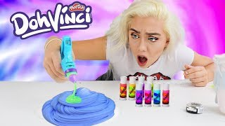 MIXING DohVinci INTO PAPER SLIME! SATISFYING SLIME ART | NICOLE SKYES