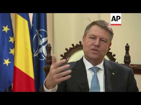 AP interview with Romania's President Iohannis