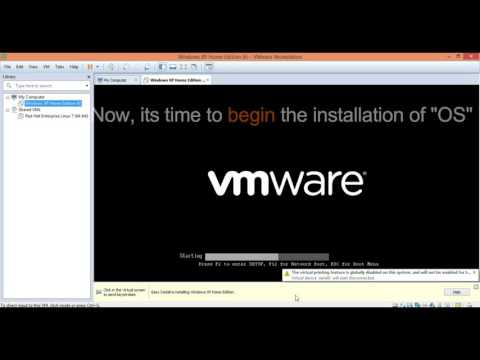 How to install Windows XP (sp3) on VMware 12?