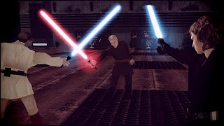 EPIC LIGHTSABER FIGHT - Star Wars: Galaxy at War / Rising Empire Mod Gameplay