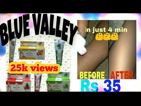 Blue Valley Hair Remover Cream most affordable hair remover cream live demo