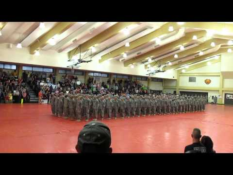 51113  army song and dismiss B 218FA welcome home ceremony