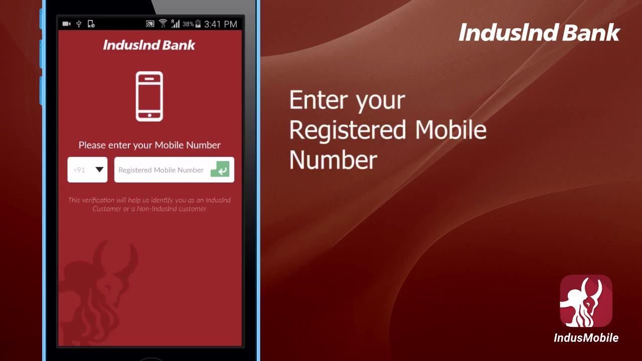 registration on indusmobile app with net banking youtube