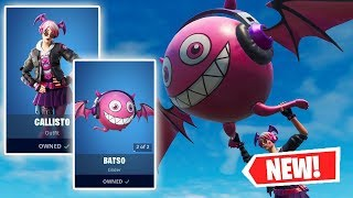 NEW CALLISTO Skin and BATSO Glider Gameplay in Fortnite!