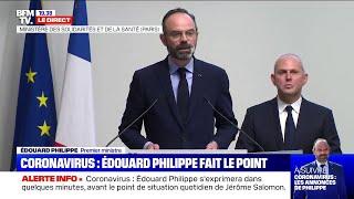 Fermeture des cafés, restaurants... Revoir l'allocution d'Edouard Philippe au sujet du coronavirus