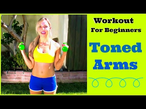 Toned Arm Workout For Beginners!  With or Without Weight