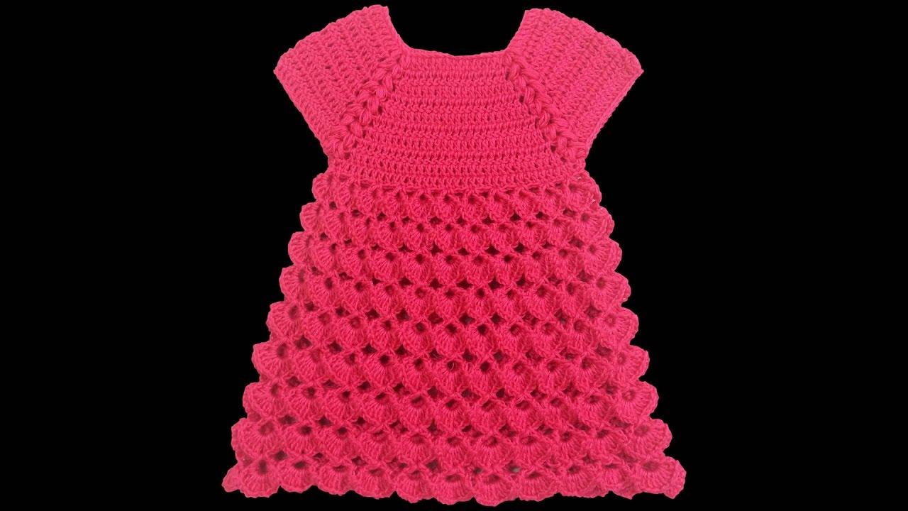 429a782b105f7 Tığ İşi Bebek Elbisesi Nasıl Yapılır? (Baştan Sona Anlatım) - bebek örgü  modelleri