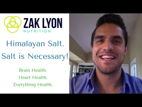 Himalayan Salt - Salt Is Necessary For The Human Body - Zak Lyon Nutrition