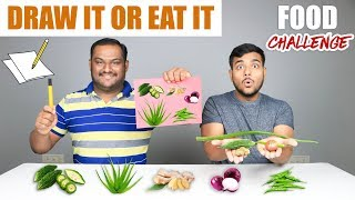 DRAW IT OR EAT IT FOOD EATING CHALLENGE | Food Eating Competition | Food Challenge