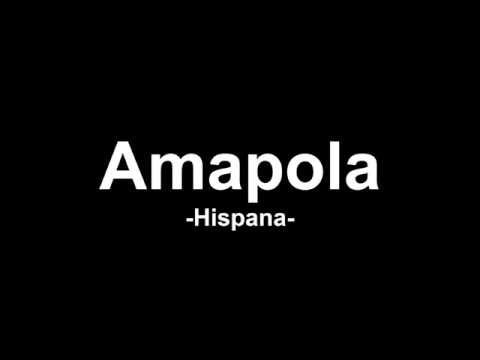 AMAPOLA - HISPANA (LETRA VIDEO)