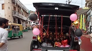 Car Decoration for Surprise birthday  Car Decoration ideas   Birthday Decoration in Car dicky