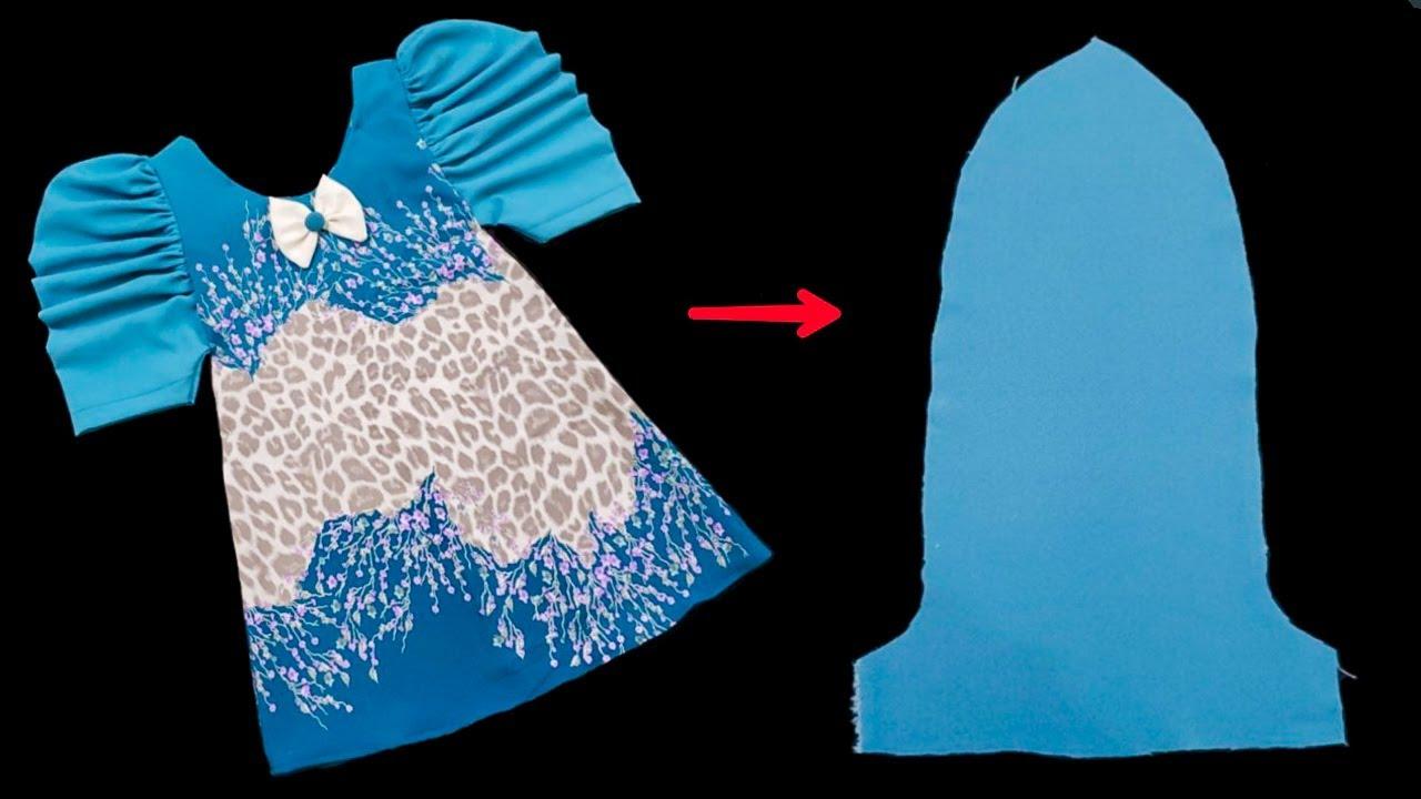 اسهل طريقه لخياطة فستان بفكره جديده ومذهله/أحدث خياطة فستان طفلة بكل بساطة