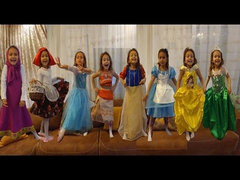 Prenses kostümleri challange, Elsa, anna, jasmin,alisa,moana