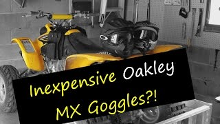 ATV & MX Goggles that work great for both adults and kids (they even fit over glasses!)