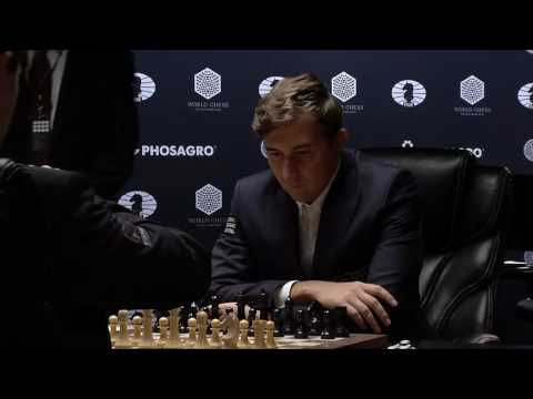 Game 1: Opening Moves of  the match Carlsen - Karjakin