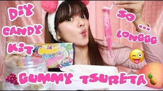 THANKS 500K SUBSCRIBERS - UNIQUE! DIY CANDY KIT JAPAN GUMMY TSURETA KRACIE POPIN COOKIN TUTORIAL