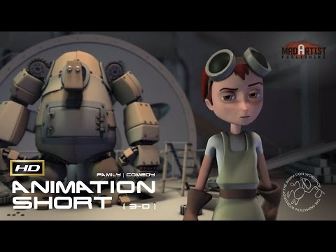 "CGI 3D Animated Short Film ""GIRL AND ROBOT"" Cute Animation by The Animation Workshop"