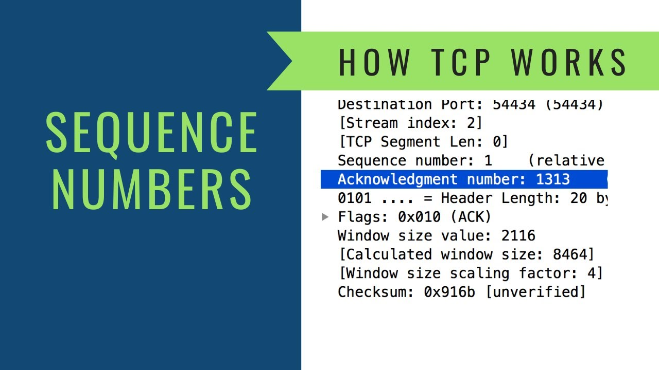 How TCP Works - Sequence Numbers
