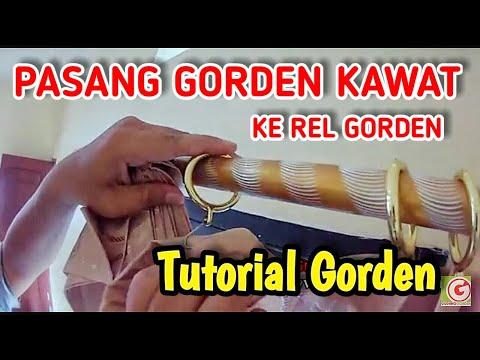 Tutorial Cara Memasang Gorden Model Kawat Ke Batang Gorden 0852 8765 1175
