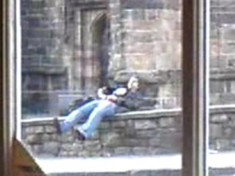 Bangor drunkard falls over wall