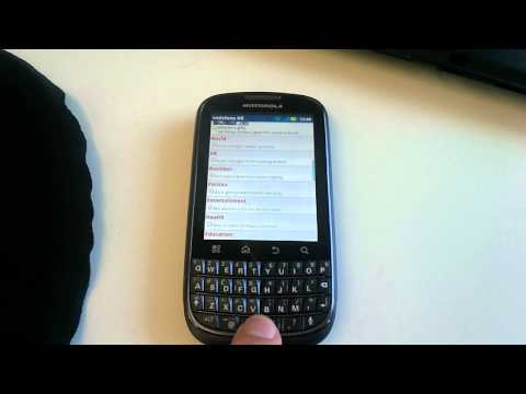 Motorola Pro Plus Keyboard Shortcuts
