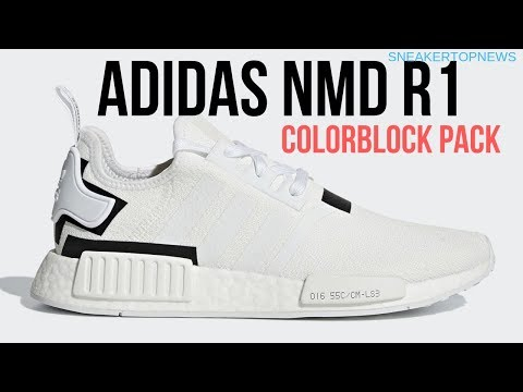 "The adidas NMD R1 ""Colorblock Pack"" Adds A Clean White And Black"