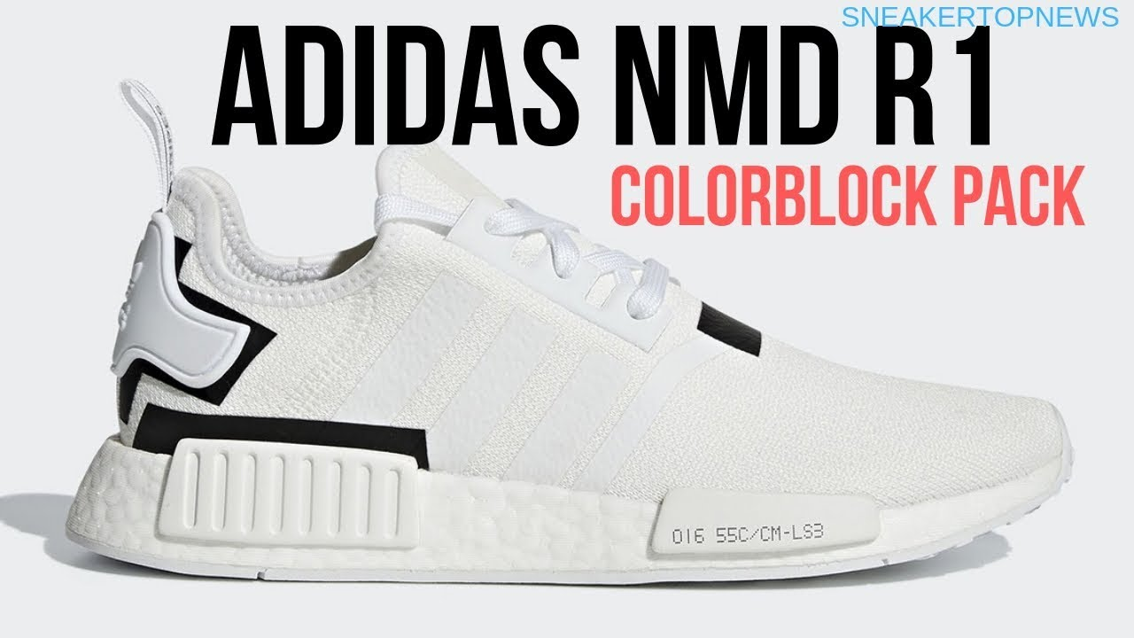 "d00df6a16af43 The adidas NMD R1 ""Colorblock Pack"" Adds A Clean White And Black ..."