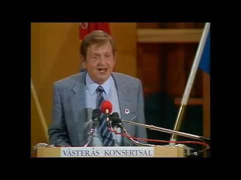 Valet 1985 - Duellen - Olof Palme (S) och Ulf Adelsohn (M)