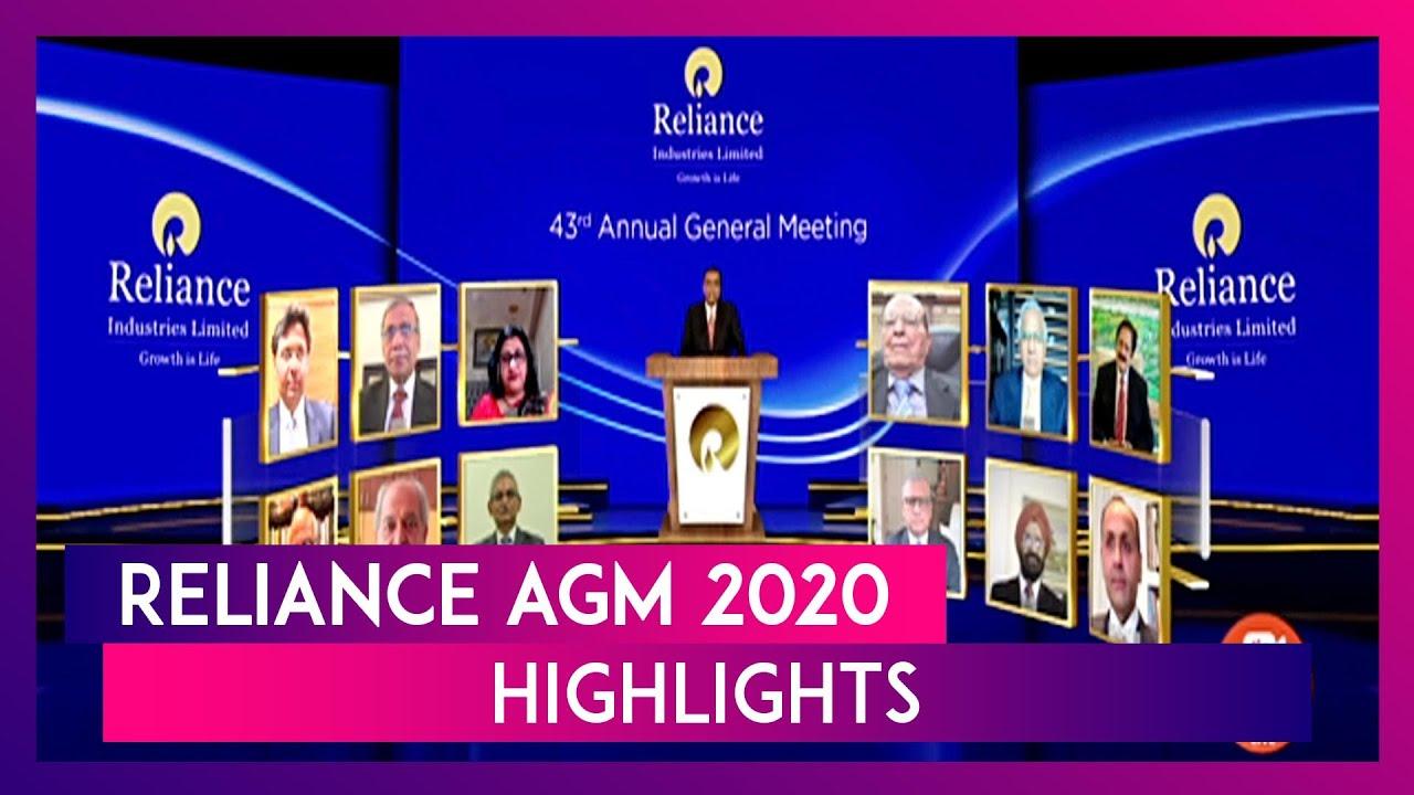 Reliance AGM 2020 Highlights: JioGlass, Google Investment Among Mukesh Ambani's Major Announcements