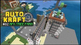 Minecraft - AFK TREE FARM [ AutoKraft Lets Play #82 ] MCPE / Bedrock / Switch