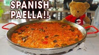 SPANISH SEAFOOD PAELLA CHALLENGE!!
