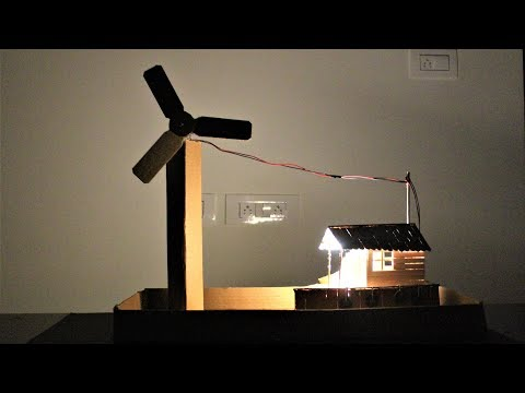 How to make wind turbine from cardboard   school project