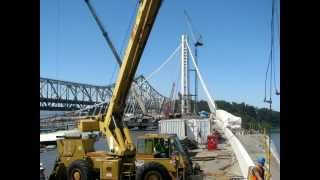 Time Lapse Video San Francisco Bay Bridge Construction -tower Looking West