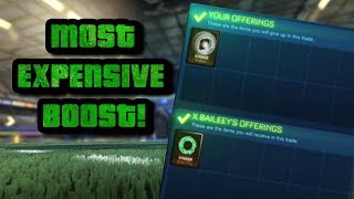 BUYING STRIKER WHITE BLAST RAY | MOST EXPENSIVE BOOST! (ROCKET LEAGUE BEST TRADES)