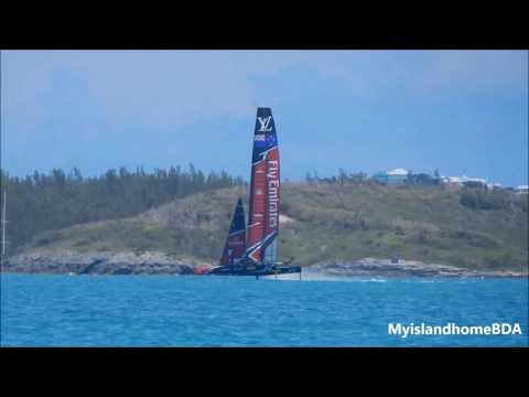 Oracle Team USA & Emirates Team New Zealand Practice 61517 Pt. 4