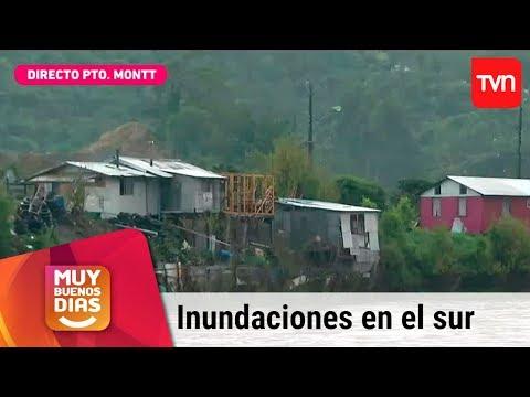 Intensas lluvias generan inundaciones en el sur de Chile | Muy buenos días